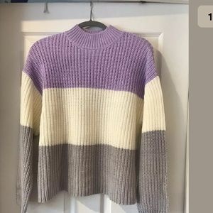Womens Colorblock Mock Neck Sweater By New Look M
